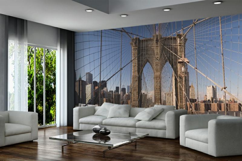 33 Wanddeko Ideen – Akzentwand mit Fototapete gestalten