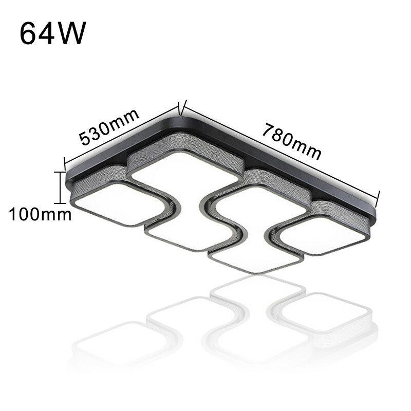 36 48 64W MODERN LED Deckenlampe Wohnzimmer Deckenleuchte