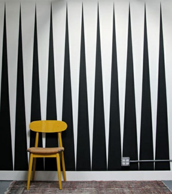 62 kreative Wände streichen Ideen interessante Techniken
