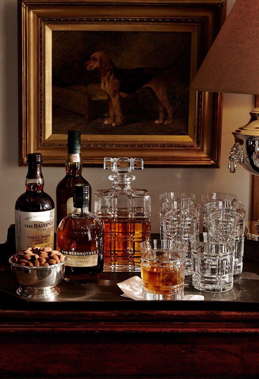 Bar im Landhausstil Hausbar Minibar Massivholz Vintage