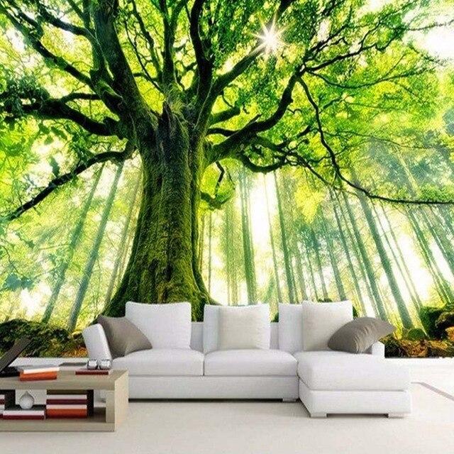 Benutzerdefinierte 3D Fototapete Wald Großes Wandbild