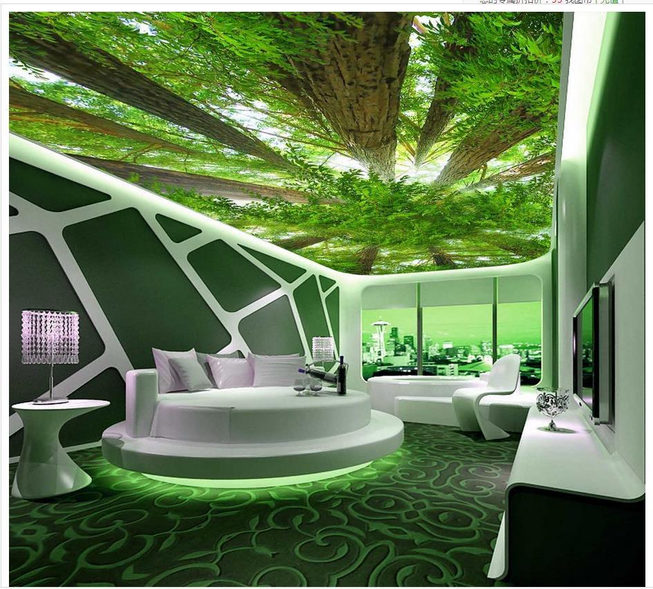 Benutzerdefinierte 3d fotowand papier Wald himmel 3d