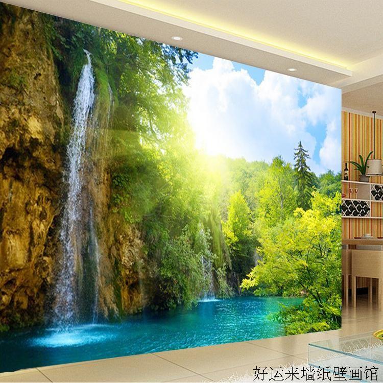 Benutzerdefinierte 3d wandbild Große TV wandbild schöne