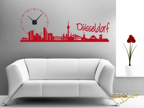 Besondere Wandtattoos Düsseldorf Skyline