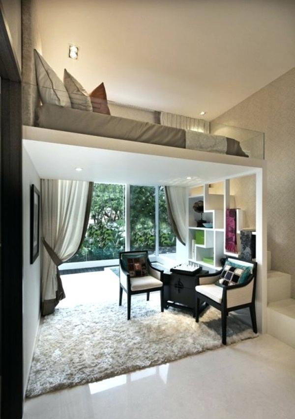 Bett Im Wohnzimmer 1 Verstecken Ideen Fur Raumteiler