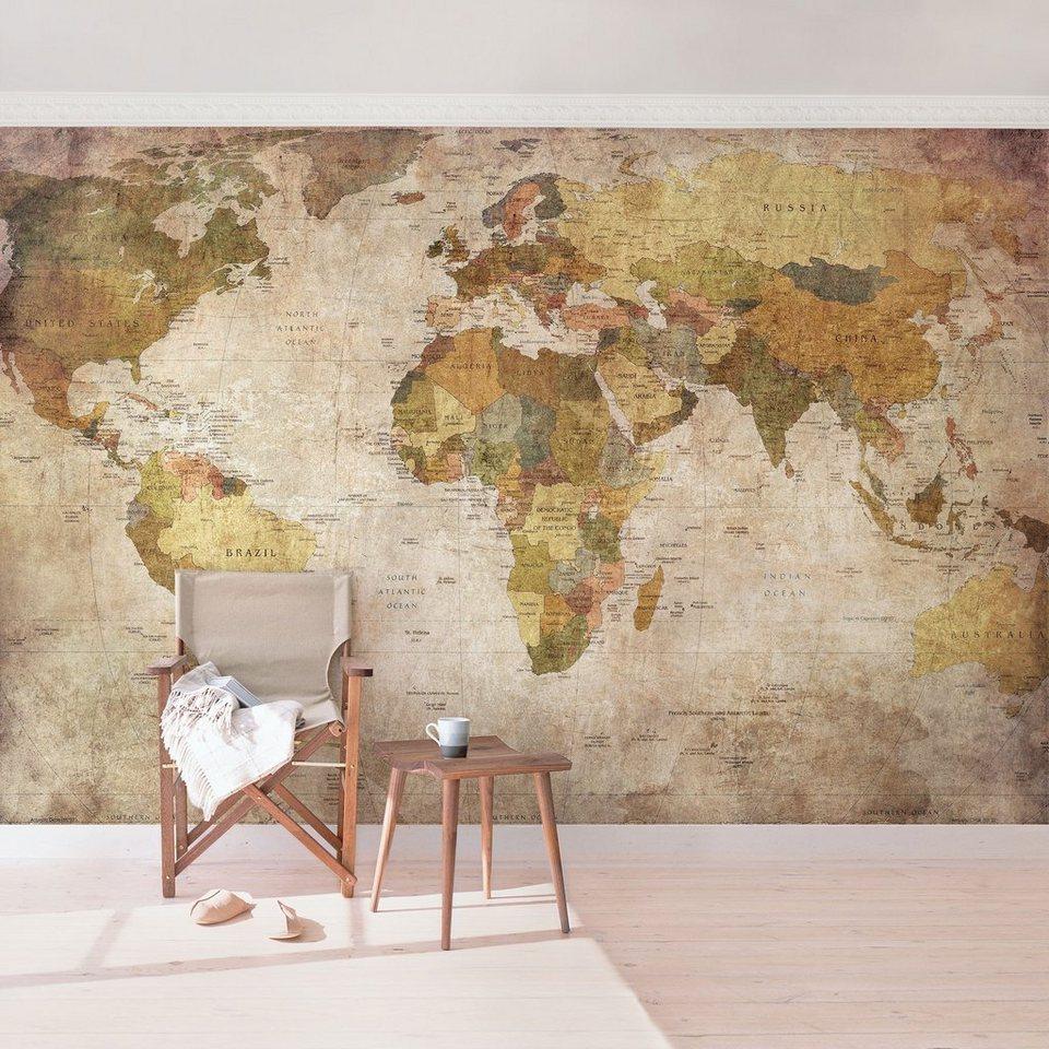 Bilderwelten Vliestapete Breit Weltkarte kaufen