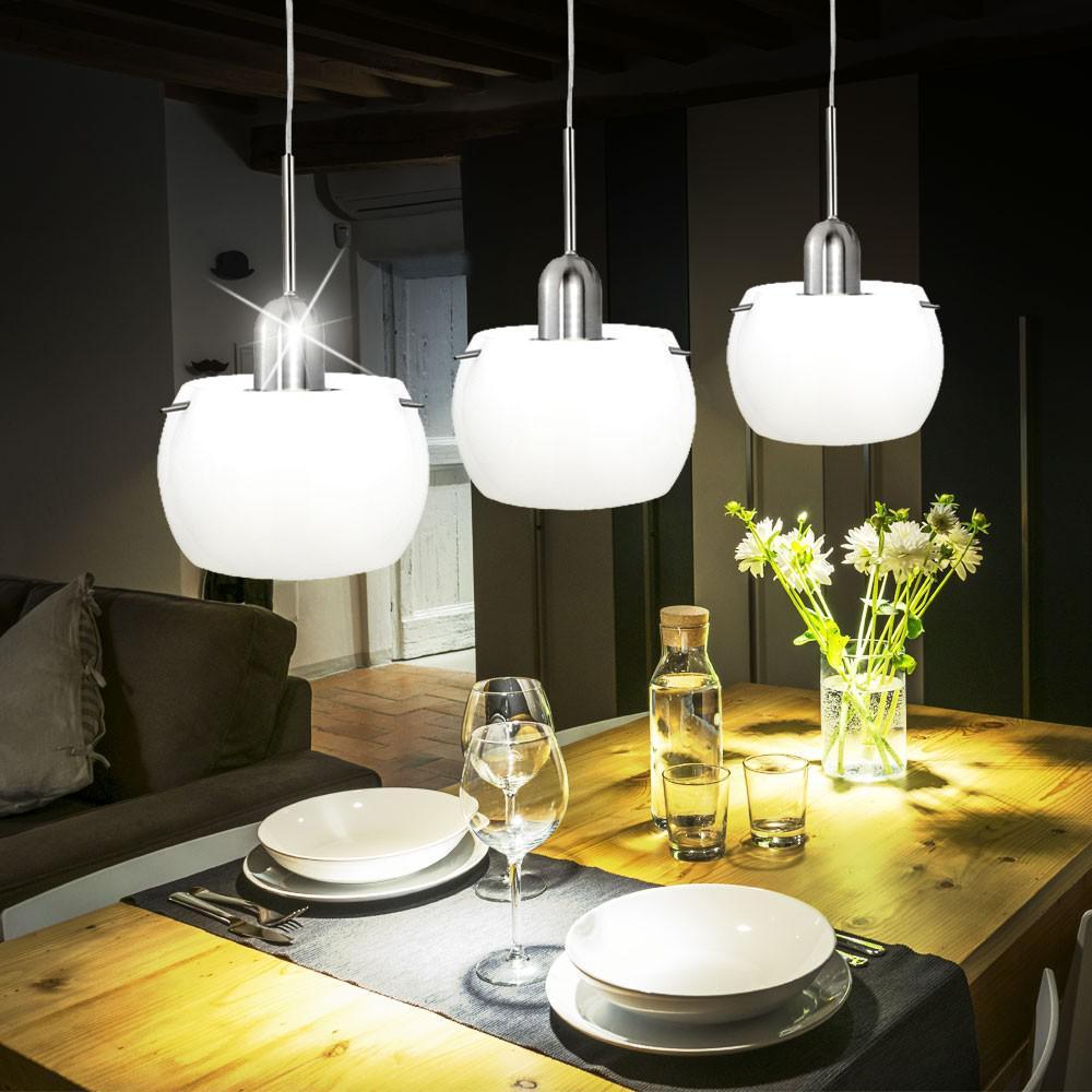 Deckenleuchte Deckenlampe Wohnzimmer Esszimmer E14 Glas