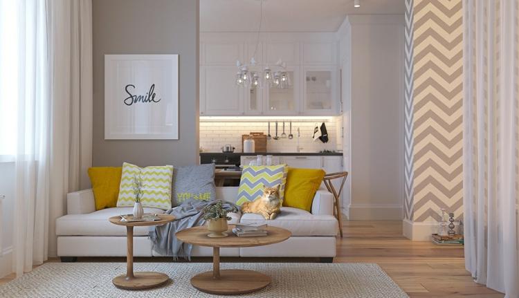 Deko Ideen Bett im Wohnzimmer integrieren – 3