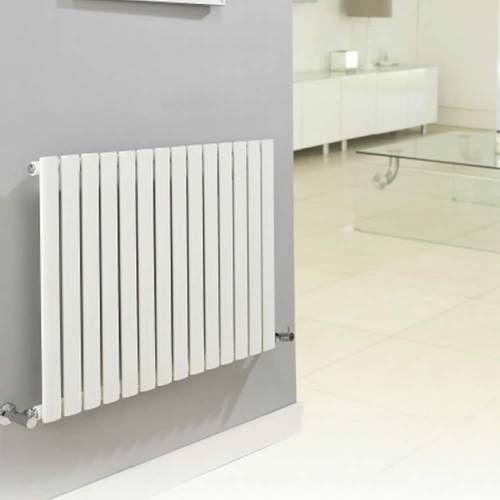 Design Heizkörper Horizontal Einlagig Weiß 635mm x 1180mm