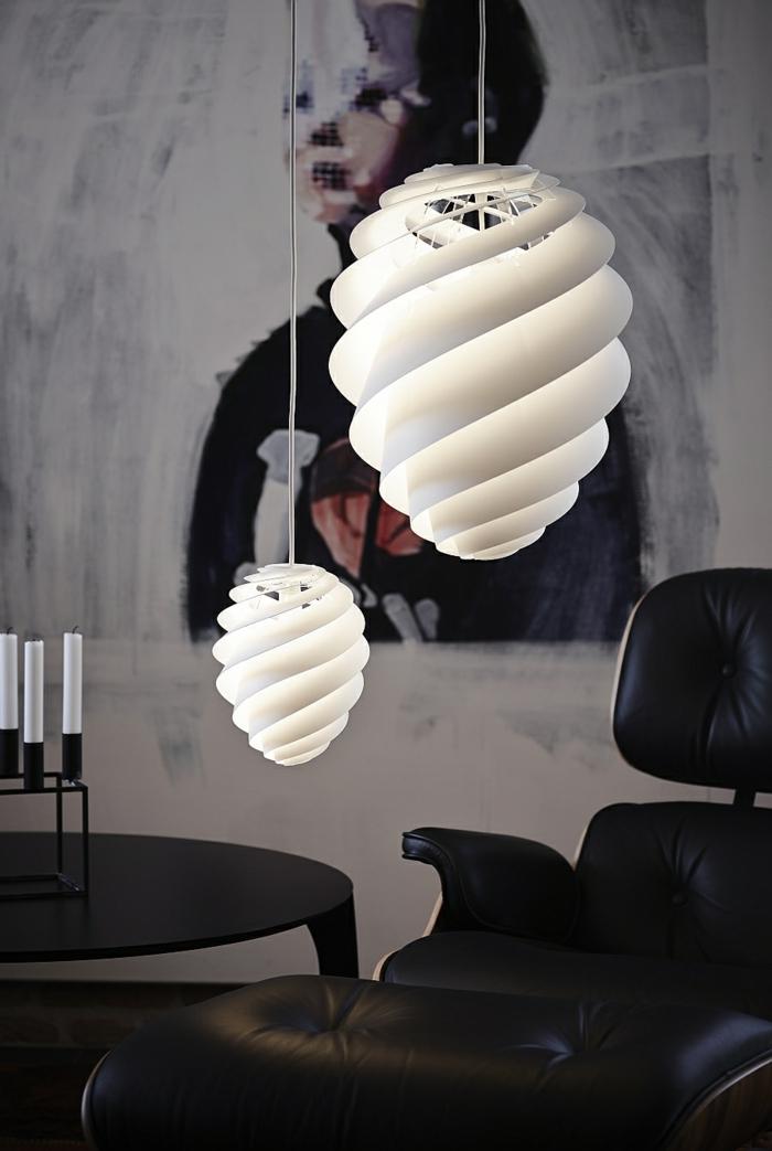 Designer Leuchten Pendelleucheten Mit Spiralförmigem Design