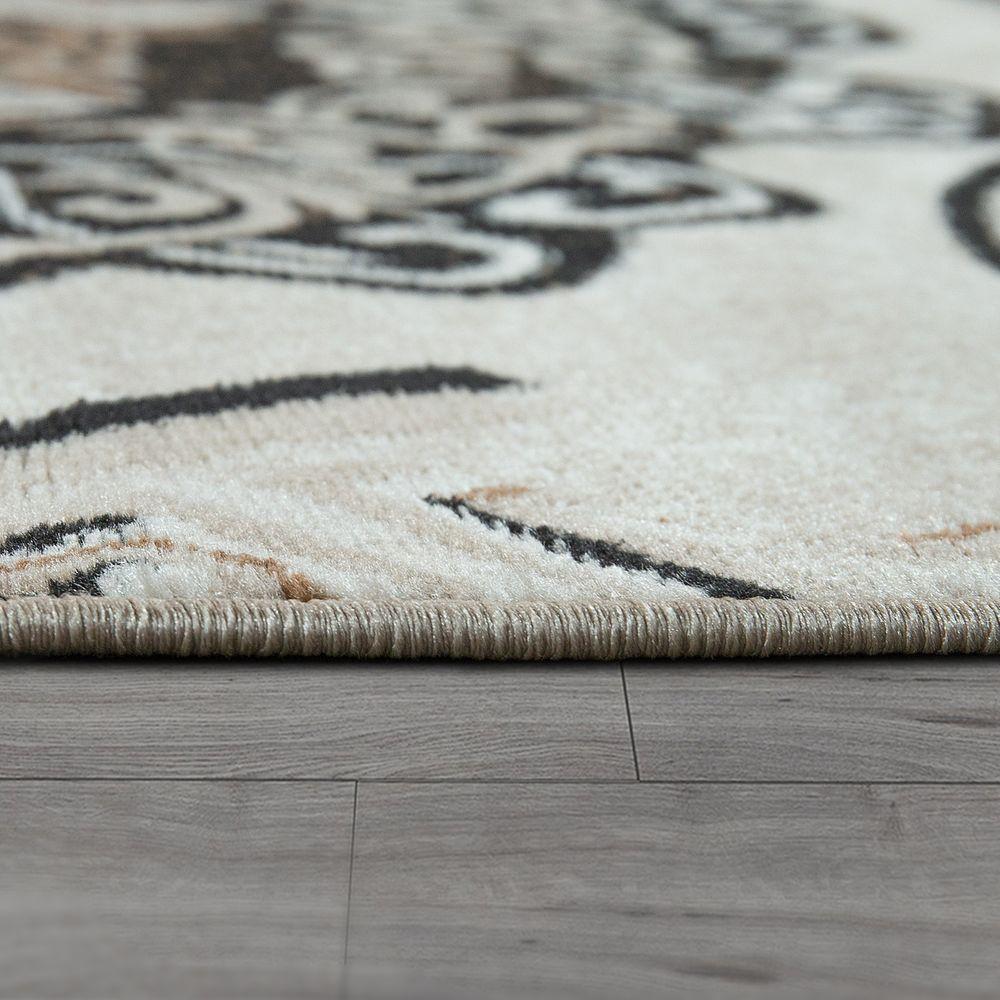Designer Teppich Mandala Motiv Braun Design Teppiche