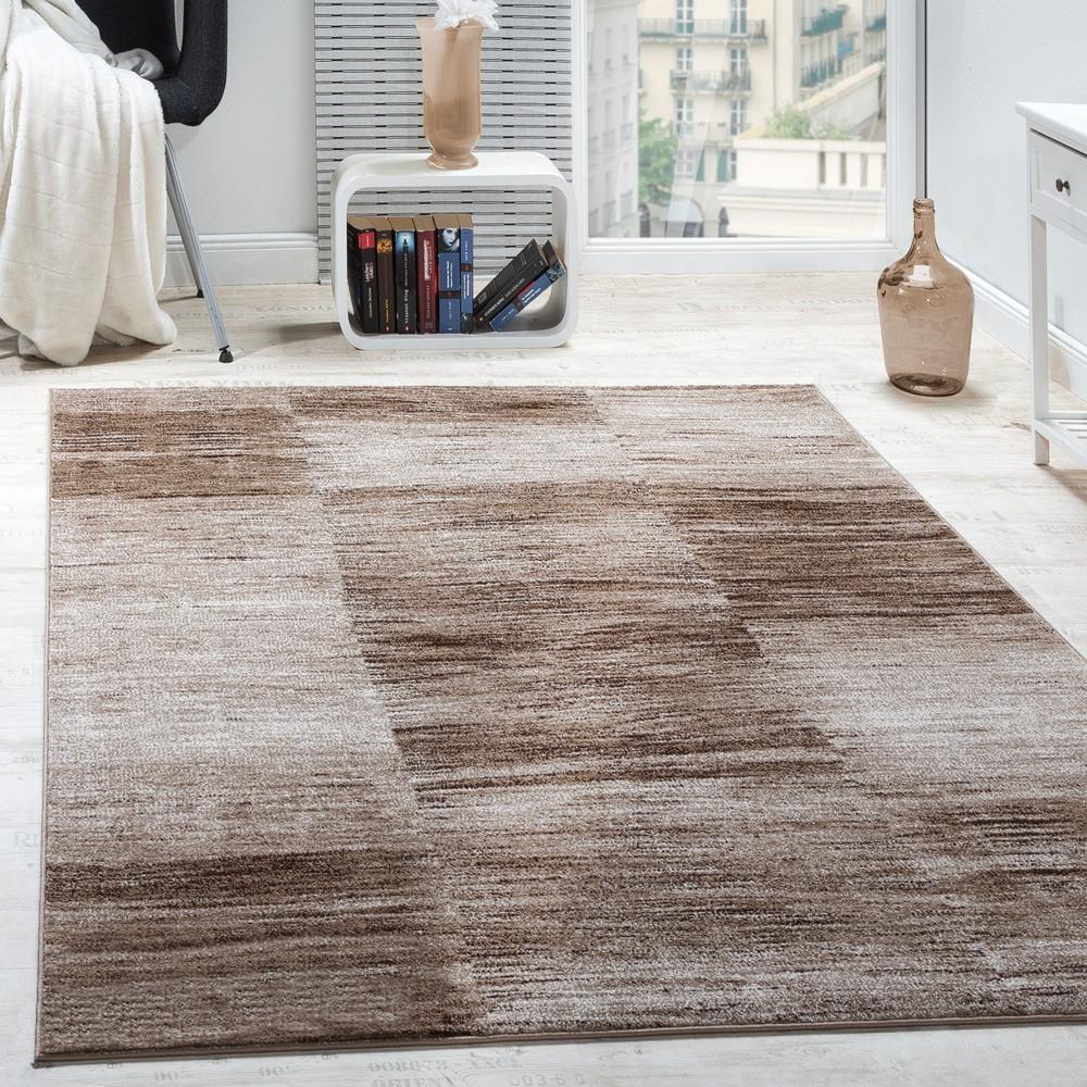 Designer Teppich Modern Wohnzimmer Teppiche Kurzflor Karo