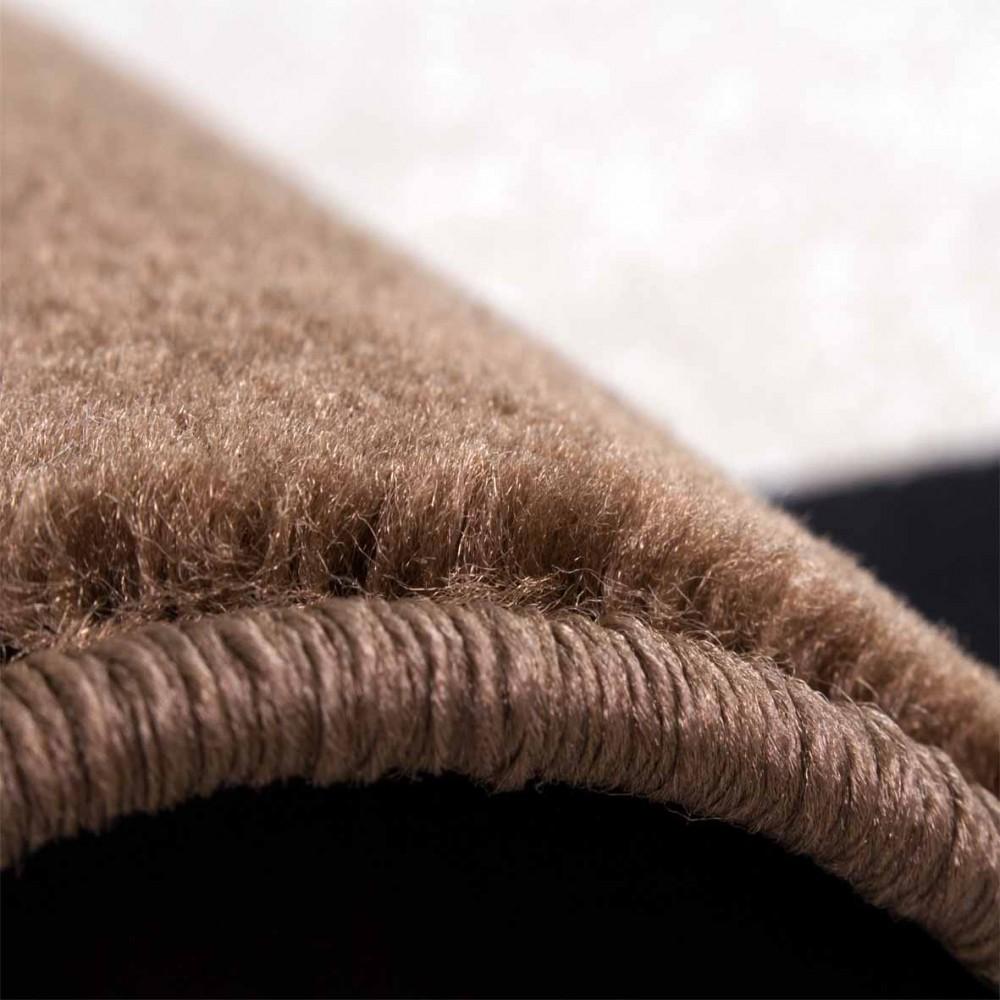 Designerteppich Bordüre Braun Design Teppiche