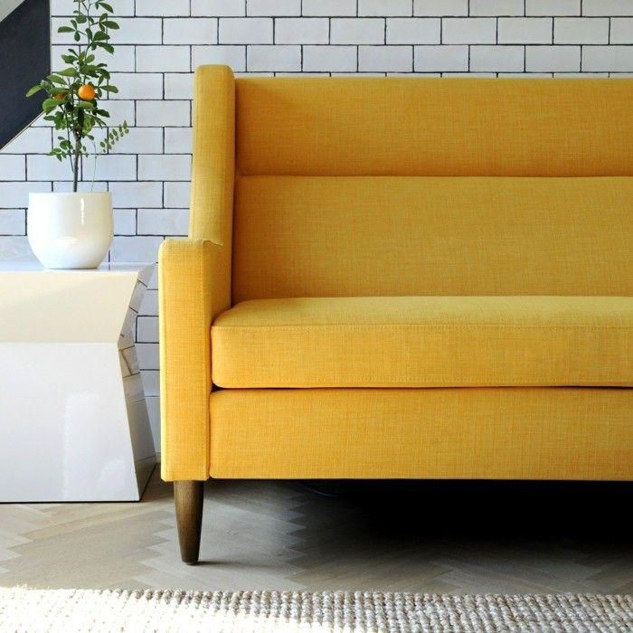Die besten 25 Sofa gelb Ideen auf Pinterest