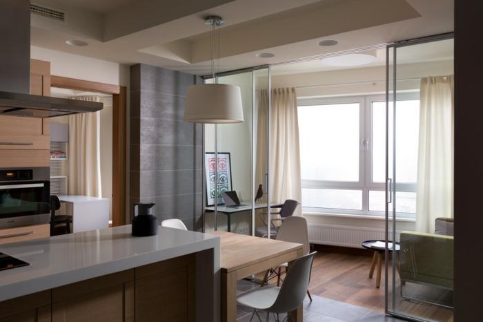 Doppeltür Glas Wohnzimmer – Wohn design