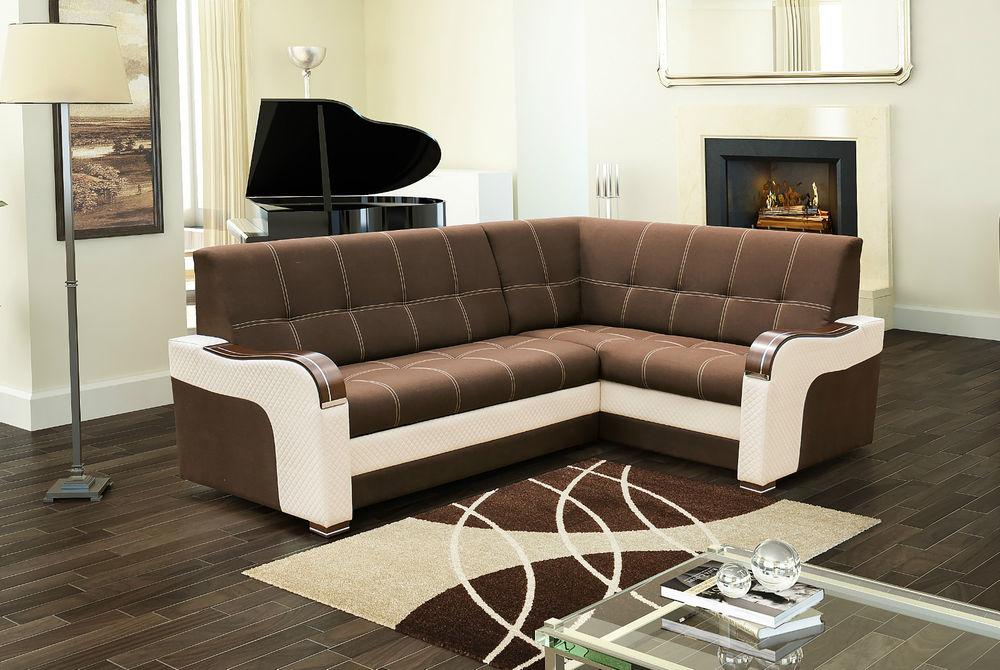 ECKSOFA Couch mit Schlaffunktion Eckcouch Polstergarnitur