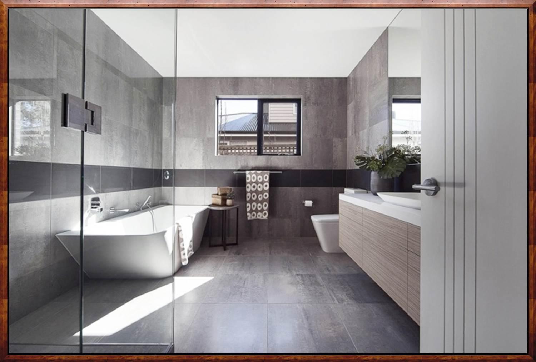 Edle Gardinen Wohnzimmer Moderne Badezimmer Fliesen Grau