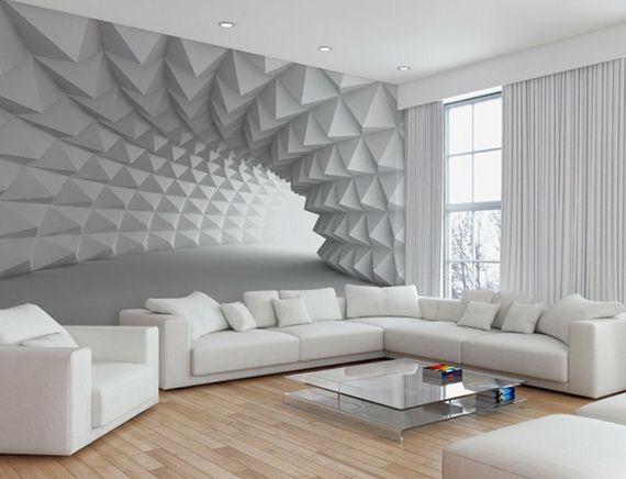Effektvolle Wand und Raumgestaltung mit Fototapete