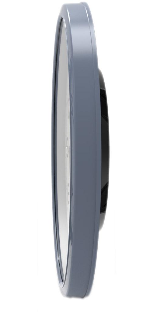 Eichmüller Wanduhr blau Funkuhr für Küche Diele Wohnzimmer
