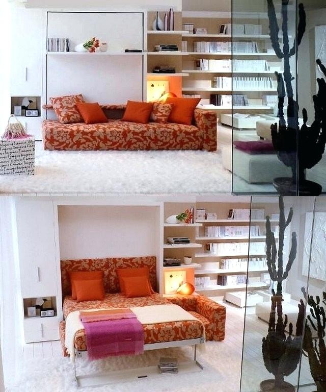 Ein Zusammen Mit Schlafzimmer Wohn Gleichzeitig Vom