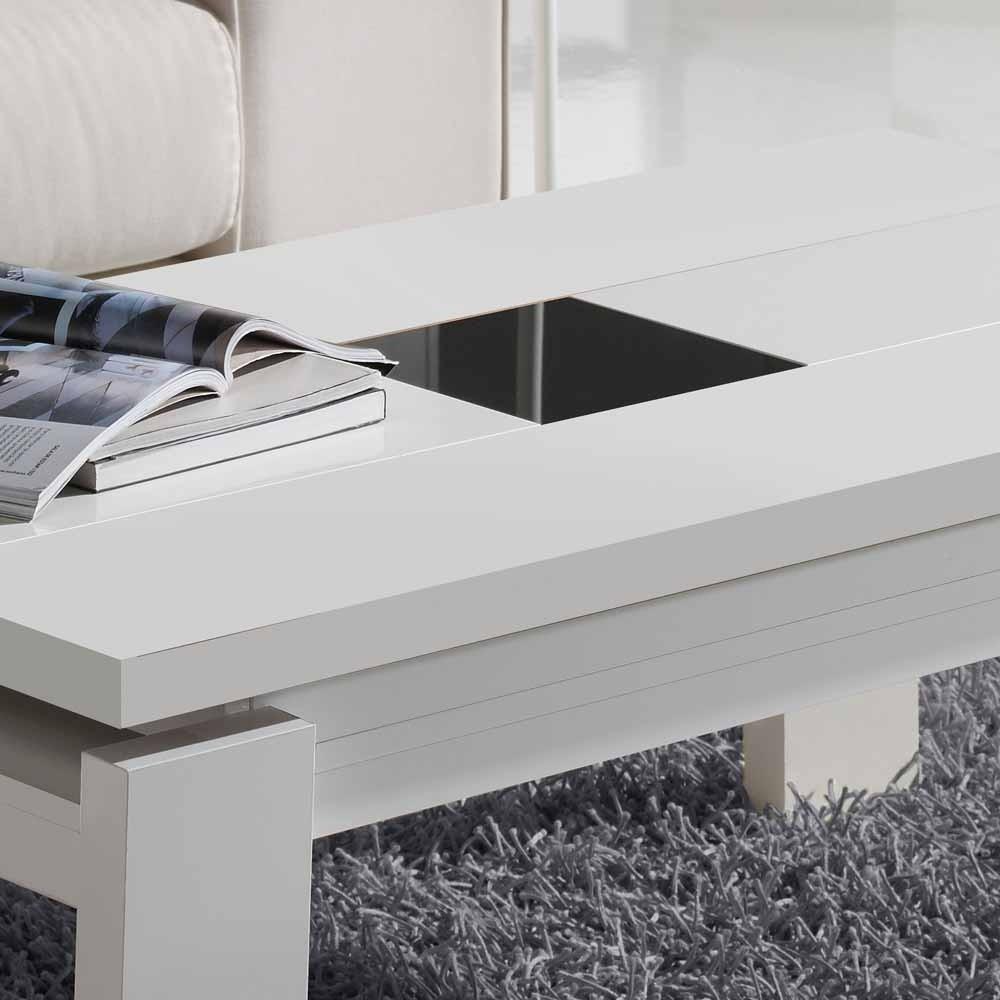 Eleganter Wohnzimmertisch Weiß Hochglanz Ardin