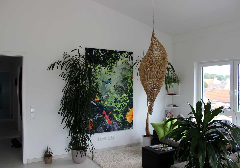Erspriessliches Dschungelfeeling im Wohnzimmer Coole