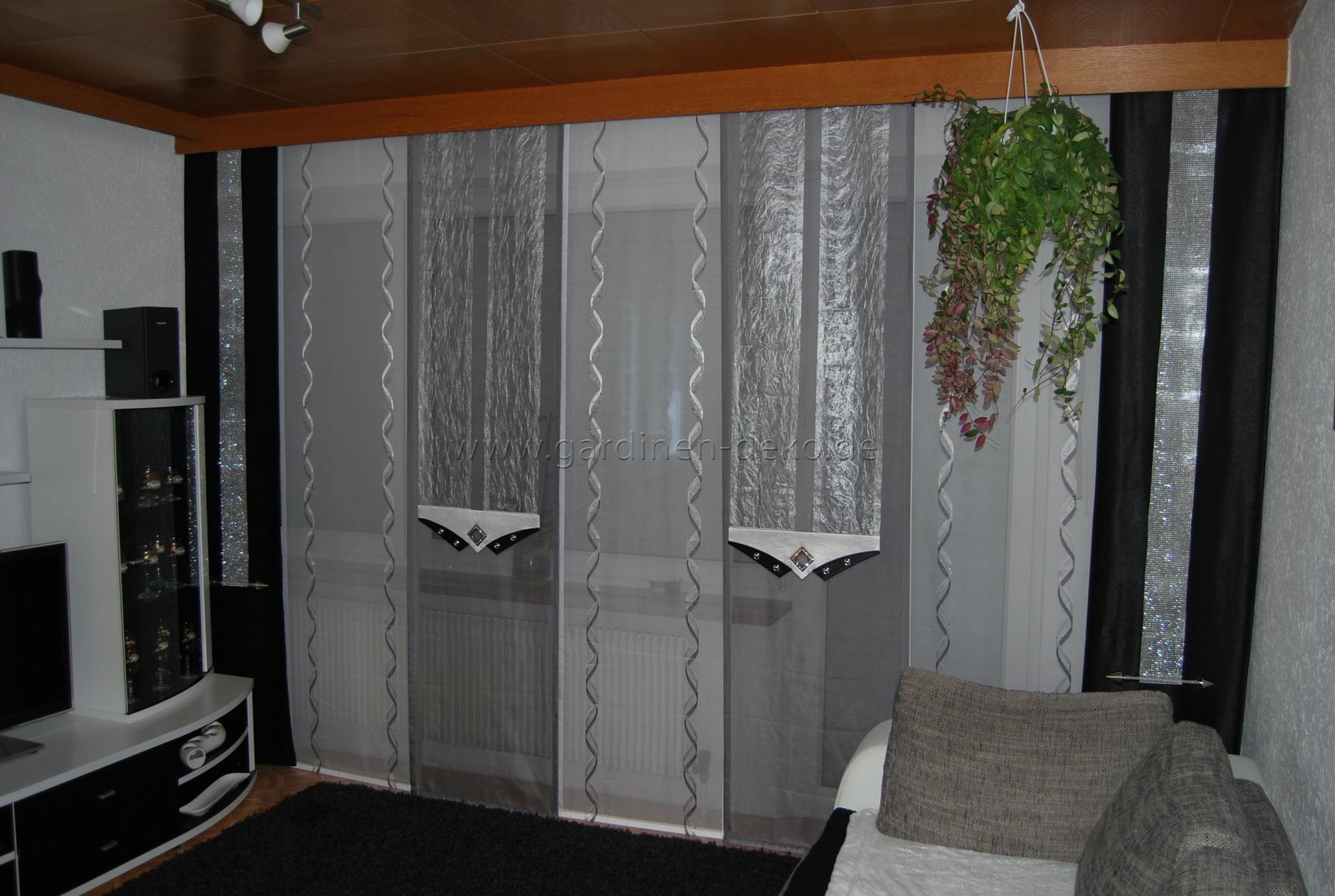 Esszimmer Schiebevorhang im modernen Design in beige und