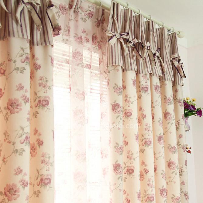 Floral Baumwolle und Leinen Schöne Wohnzimmer Fenster