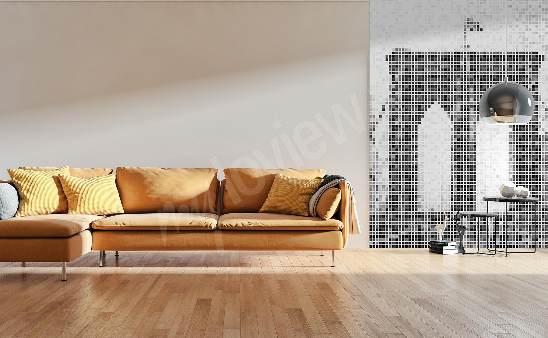 Fototapeten Wohnzimmer • größe der wand