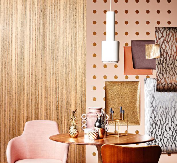 Für Wand Edle Tapeten im Metallic oder Lederlook
