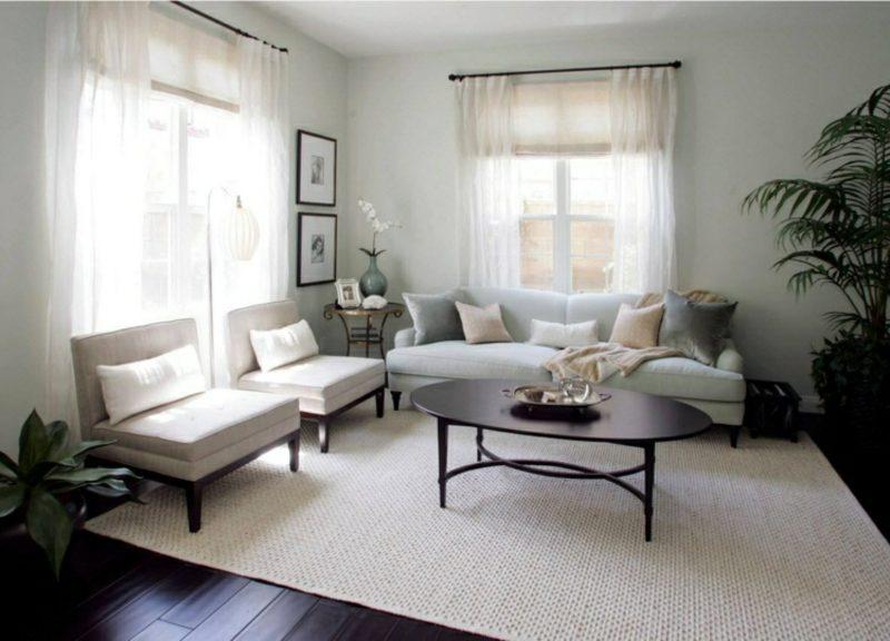 Gardinen Wohnzimmer tolle Ideen für verschiedene