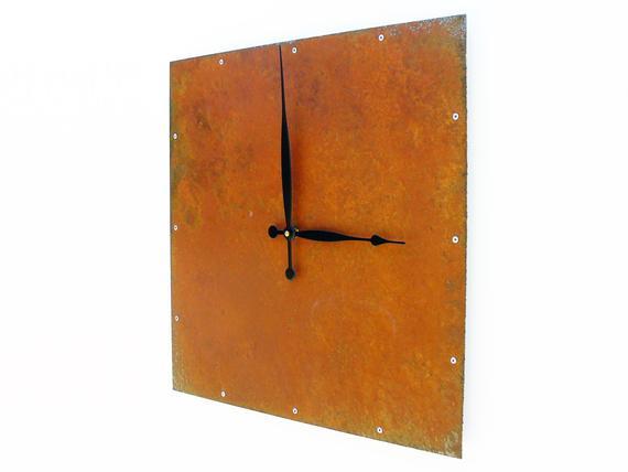 Große Metall Uhr für Wohnzimmer einzigartige