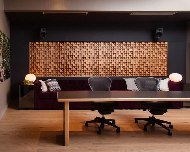 Holz wanddeko wohnzimmer