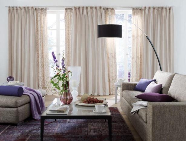 Ideen wohnzimmer gardinen