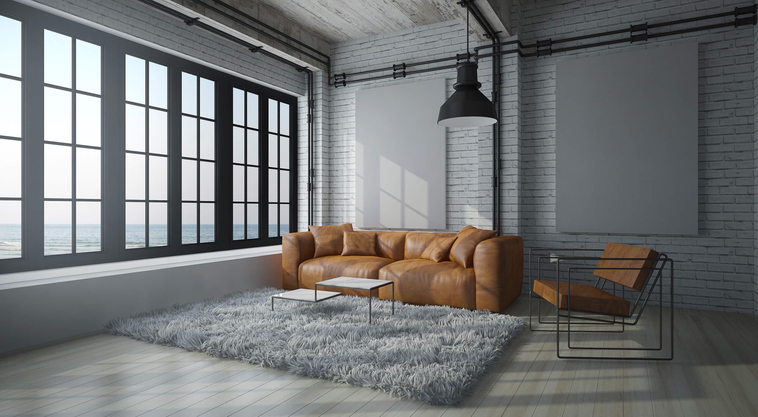 Industrial Look Wohnzimmer