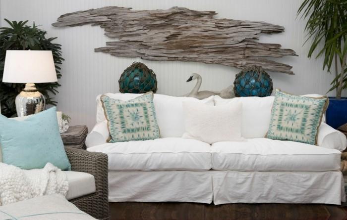 Inneneinrichtung Ideen wie Sie mit Treibholz dekorieren