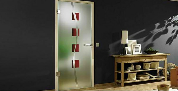 Innentüren aus Glas moderne ästhetische Glastüren