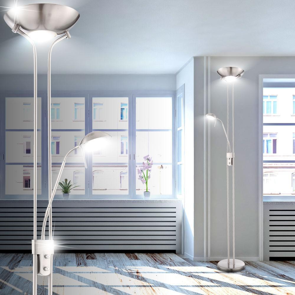 LED Deckenfluter Standleuchte Wohnzimmer Leselampe