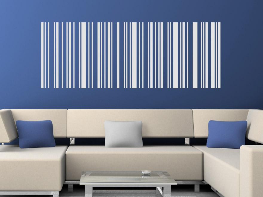 Linien Wandtattoo Motiv Barcode Von Wandtattoo