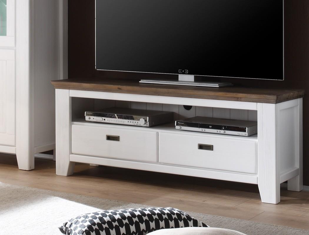 Lowboard Barnelund 140x55x45 Akazie weiß TV Möbel TV