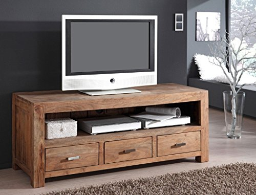 Lowboard Bihar 150x60x55 cm Akazie massiv stone TV Möbel