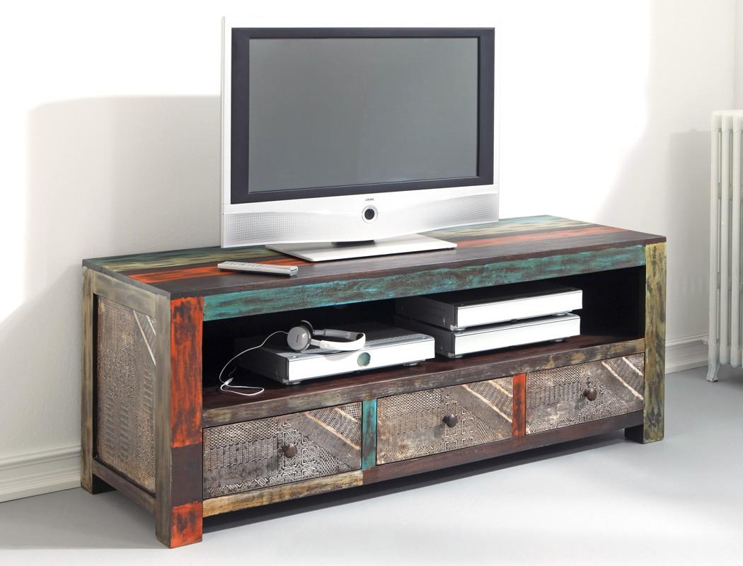 Lowboard Punjab 150x60x55 Akazie Metall TV Möbel TV