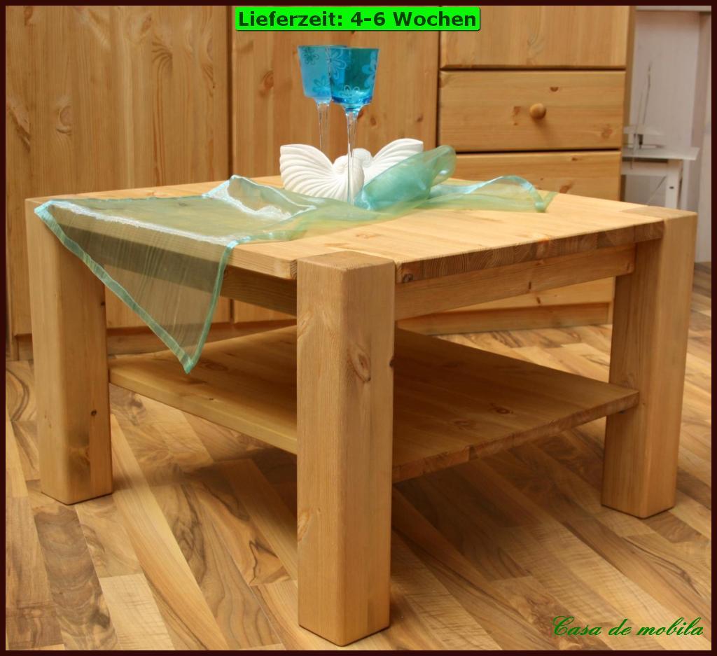 Massivholz COUCHTISCH 74x74 Wohnzimmertisch Beistelltisch