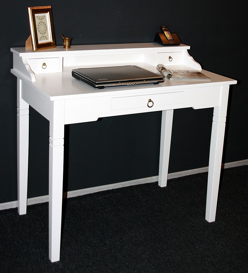 Massivholz Sekretär Konsolentisch Schreibtisch Holz massiv