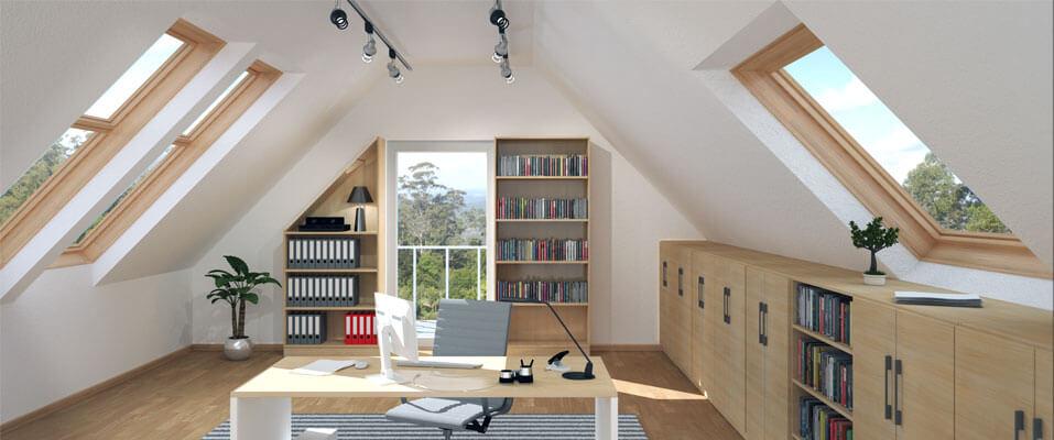 Möbel Lösung für Dachschrägen