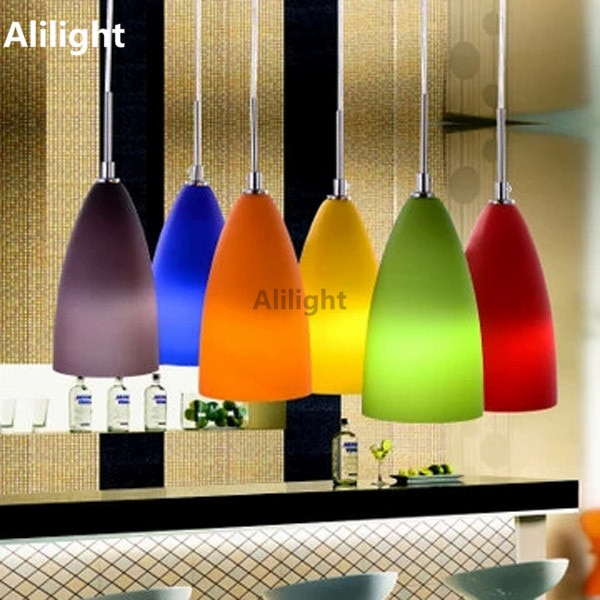 Moderne Mode Bunte Glas Pendelleuchten Innenbeleuchtung