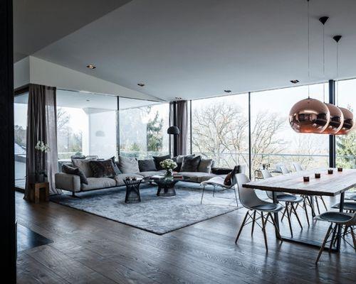 Moderne Wohnzimmer Ideen Design Bilder Houzz in Moderne