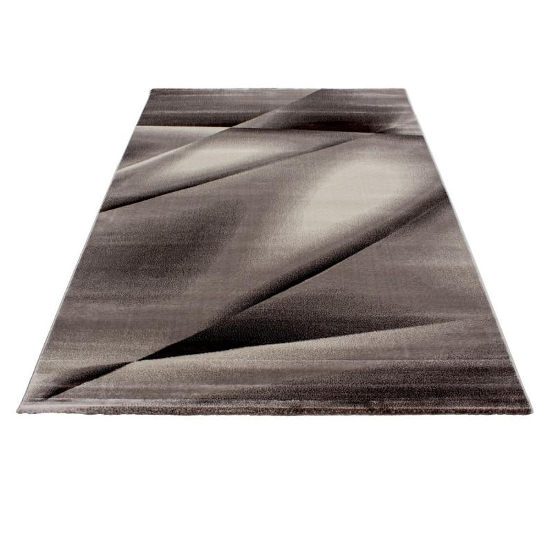 Moderner Designer Wohnzimmer Teppich Miami 6590 Braun