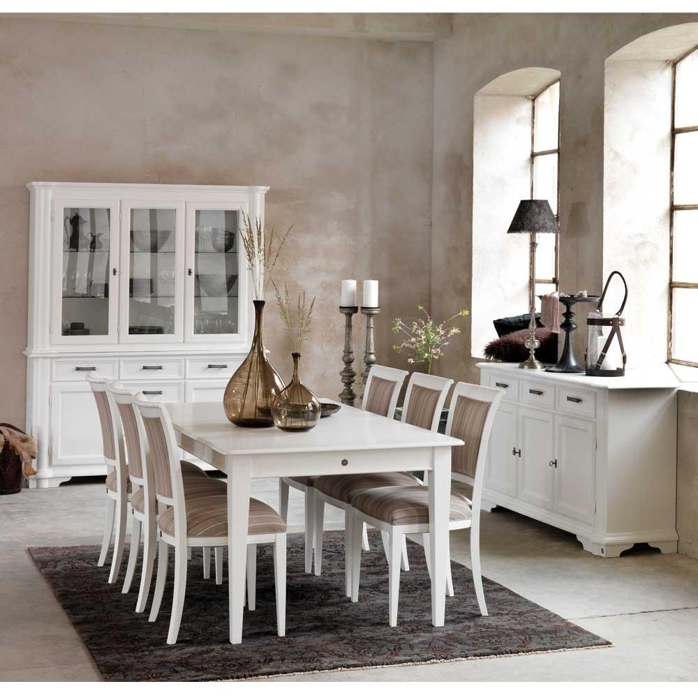 Ovaler Landhaus Wohnzimmertisch in Weiß Maggiore