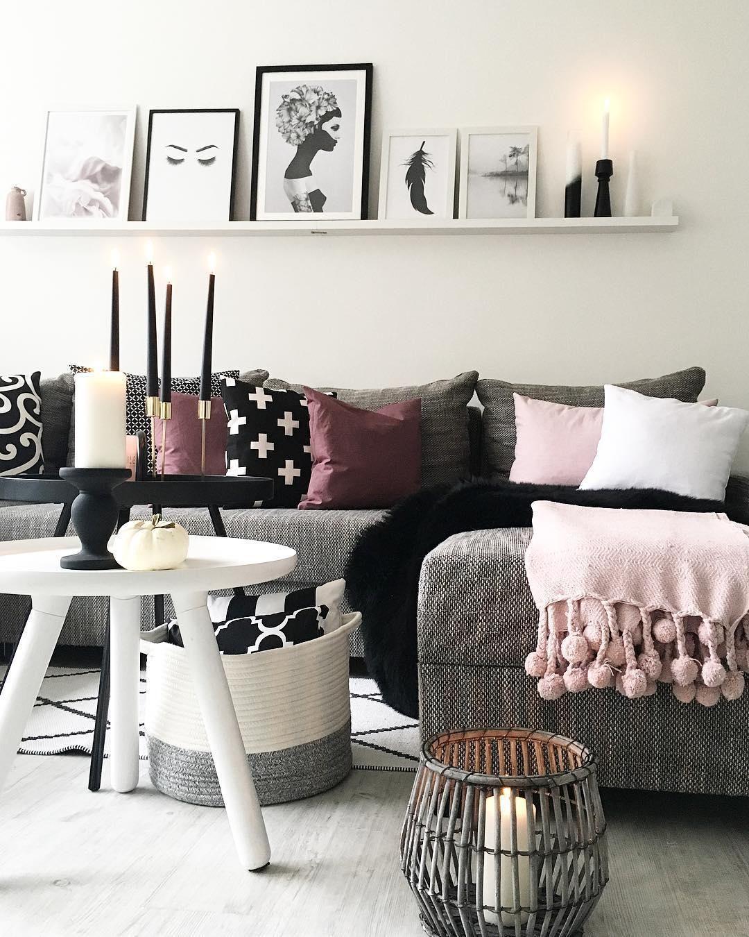 Plaid Sorbet Wohnzimmer